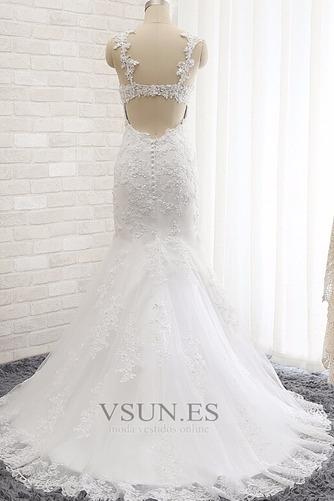 Vestido de novia Romántico Abalorio Espalda Descubierta Otoño Natural - Página 2