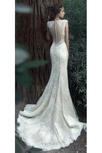 Vestido de novia Tallas pequeñas Pura espalda Sin mangas Natural Verano - Página 2