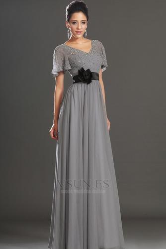Vestido de noche Fajas 2016 Natural Corte-A Tallas pequeñas Escote en V - Página 6
