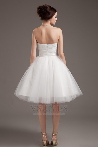 Vestido de novia Romántico Corte princesa Hasta la Rodilla Tallas pequeñas - Página 4