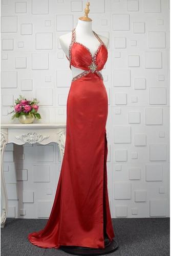 Vestido de fiesta primavera Elegante Pera Natural Cristal Satén Elástico - Página 2