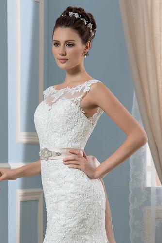 Vestido de novia Corte Recto Satén Arco Acentuado Cristal Espalda Descubierta - Página 4
