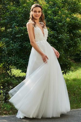 Vestido de novia Sin mangas Rosetón Acentuado Hasta el Tobillo Fuera de casa - Página 3