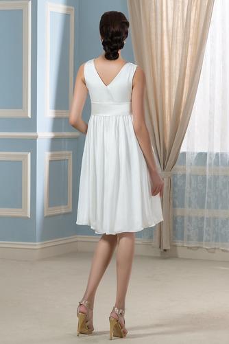 Vestido de novia Arco Acentuado Verano Gasa Drapeado Blusa plisada Hasta la Rodilla - Página 2