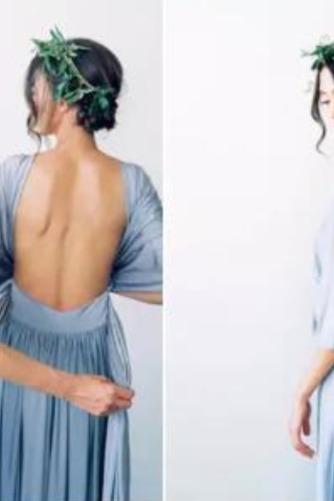 Vestido de dama de honor Blusa plisada Verano Sencillo Espalda Descubierta Triángulo Invertido - Página 7