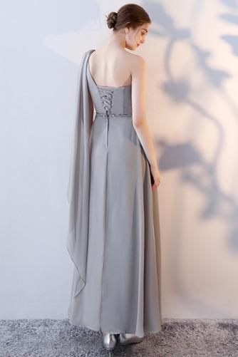 Vestido de dama de honor Natural Corte-A Blusa plisada Escote en V Sin mangas - Página 12