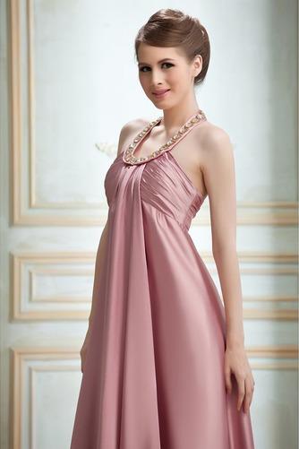Vestido de noche Cremallera Imperio Joya primavera Plisado Satén Elástico - Página 4