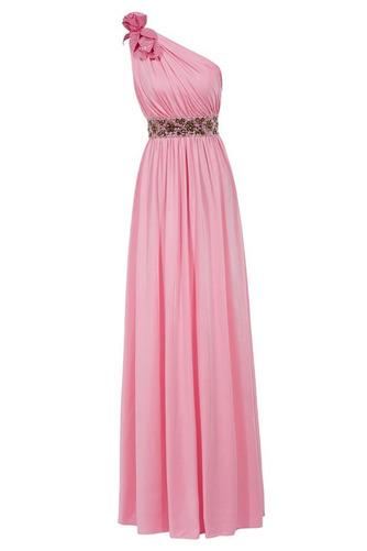 Vestido de fiesta Elegante Plisado Natural Corte-A Hasta el Tobillo Espalda medio descubierto - Página 8