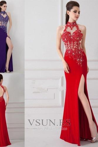 Vestido de noche primavera Corte Sirena Sin mangas Elegante Falta Espalda medio descubierto - Página 4