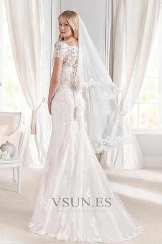 Vestido de novia Corte Sirena Encaje largo Falta Otoño Manga corta - Página 2
