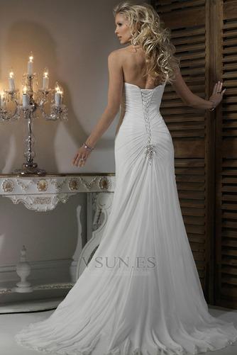 Vestido de novia Corte Recto Satén Escote Corazón Espalda medio descubierto - Página 2