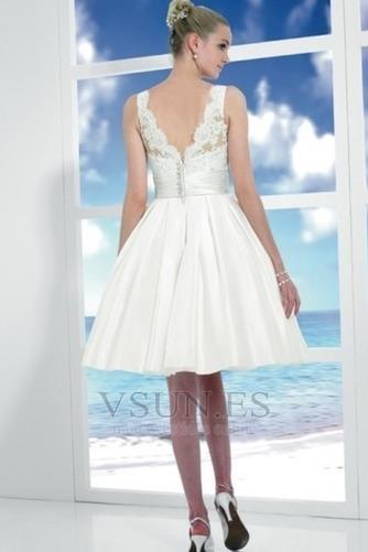 Vestido de novia Corte princesa Hinchado Reloj de Arena Natural Satén - Página 2
