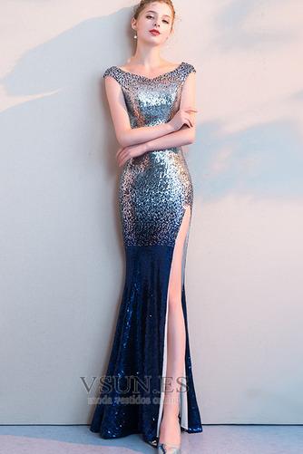 Vestido de fiesta Corte Sirena Hasta el Tobillo Tallas pequeñas Moderno - Página 1