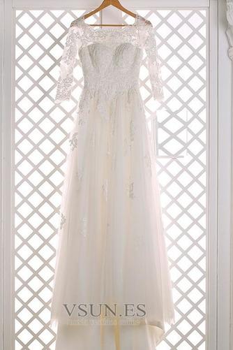 Vestido de novia primavera tul Iglesia Natural Cola Barriba Camiseta - Página 5