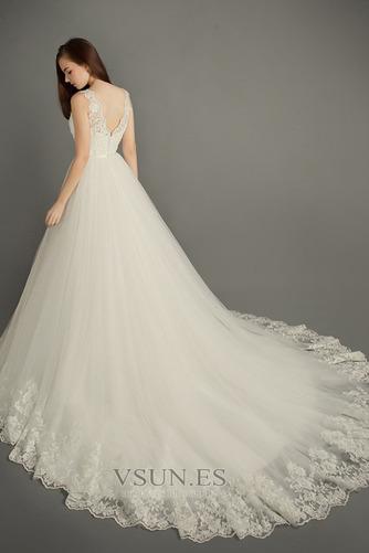 Vestido de novia Satén Apliques Natural Iglesia Cremallera Formal - Página 2