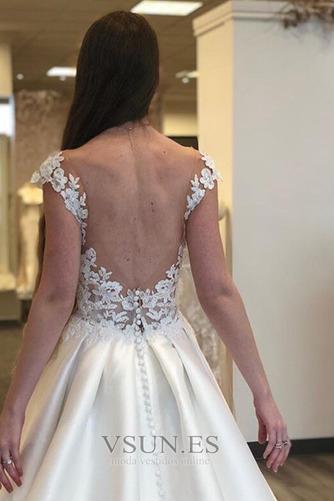 Vestido de novia Espalda Descubierta Sin mangas Corte-A Capa de encaje - Página 3