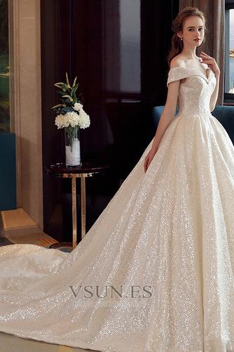 Vestido de novia Colores Iglesia Estrellado Con lentejuelas Otoño Escote con Hombros caídos - Página 3