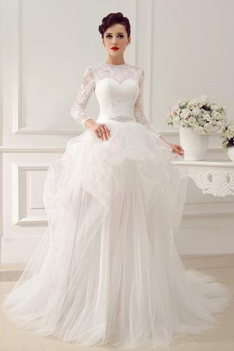 Vestido de novia Clasicos Otoño Asimètrico Cristal largo Cremallera - Página 1