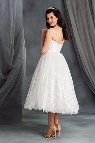 Vestido de novia Encaje Escote Corazón Playa Natural Cremallera Hasta la Tibia - Página 2