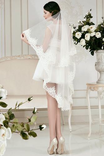 Vestido de novia Informal Natural Manga tapada Con velo Fuera de casa - Página 2