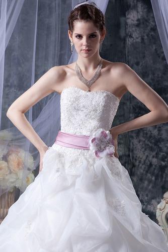 Vestido de novia Sin tirantes Corte-A Iglesia largo Sin mangas Encaje - Página 6