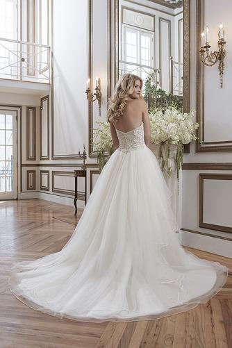 Vestido de novia Colores Fuera de casa Abalorio Espalda Descubierta - Página 3