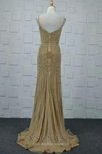 Vestido de noche Colores Escote de Tirantes Espaguetis Espalda medio descubierto - Página 2