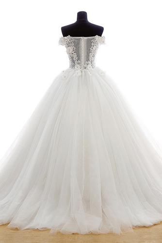 Vestido de novia Escote con Hombros caídos Iglesia Natural Cola Barriba - Página 2