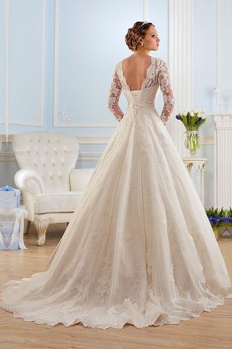 Vestido de novia Corte princesa Espalda medio descubierto Encaje Natural - Página 3