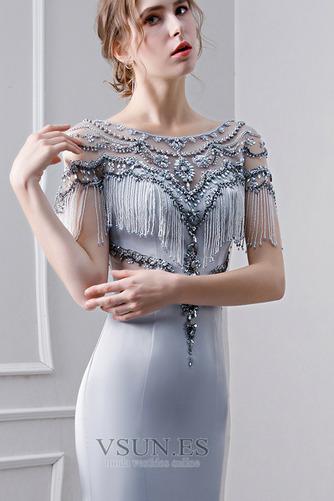 Vestido de noche Elegante Corpiño Acentuado con Perla Natural Satén - Página 6