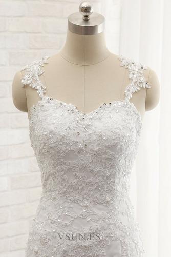 Vestido de novia Romántico Abalorio Espalda Descubierta Otoño Natural - Página 5