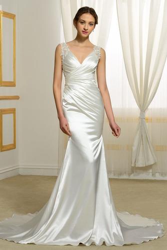 Vestido de novia Natural Corte Sirena Falta Espalda Descubierta Otoño - Página 1