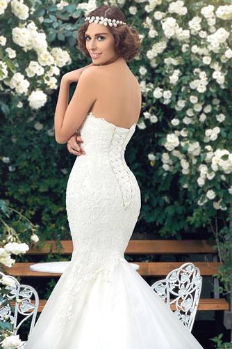 Vestido de novia Corte Sirena Drapeado Fuera de casa Falta Moderno Capa de encaje - Página 6
