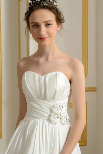 Vestido de novia Sin mangas Asimètrico Sin tirantes Volantes Adorno - Página 4