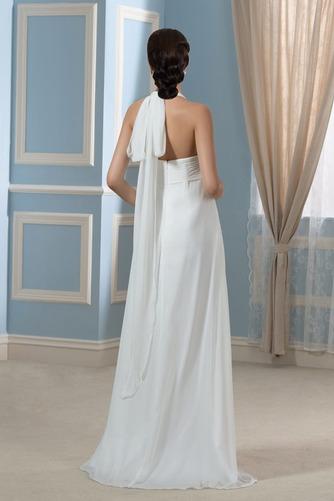Vestido de novia Sin mangas Hasta el suelo Tallas grandes Drapeado Blusa plisada - Página 3
