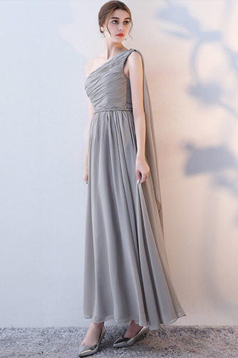 Vestido de dama de honor Natural Corte-A Blusa plisada Escote en V Sin mangas - Página 11