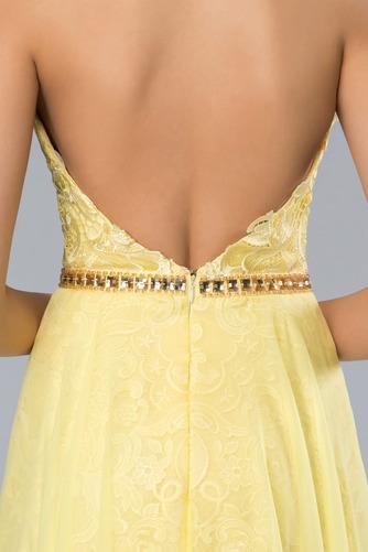 Vestido de fiesta Elegante Apertura Frontal Natural Sin mangas Encaje - Página 4