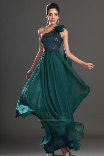 Vestido de noche Elegante Encaje Un sólo hombro Rosetón Acentuado Espalda medio descubierto - Página 4