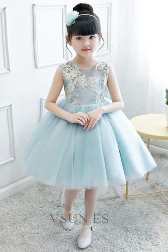 Vestido niña ceremonia Natural Joya Otoño Hasta la Rodilla Lazos Arco Acentuado - Página 1