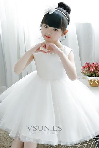 Vestido niña ceremonia Corte-A Abalorio Arco Acentuado Cremallera Verano tul - Página 4