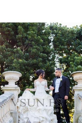Vestido de novia Corte Sirena Pura espalda Iglesia Clasicos Botón Pomposo - Página 4