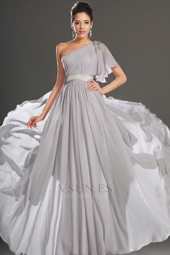 Vestido de noche Elegante Verano Drapeado Hasta el suelo Corte-A Gasa - Página 2