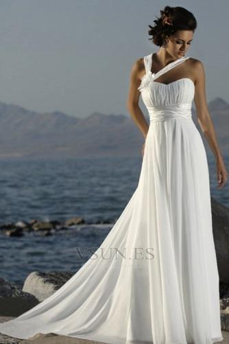 Vestido de novia Espalda medio descubierto primavera Gasa Plisado Imperio - Página 1