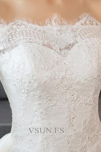 Vestido de novia Natural Espalda Descubierta largo Corte-A Mangas Illusion - Página 4