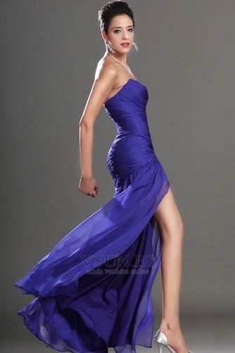 Vestido de fiesta Glamouroso azul medianoche Sin tirantes Hasta el suelo - Página 6