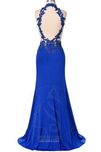 Vestido de noche primavera Corte Sirena Sin mangas Elegante Falta Espalda medio descubierto - Página 6