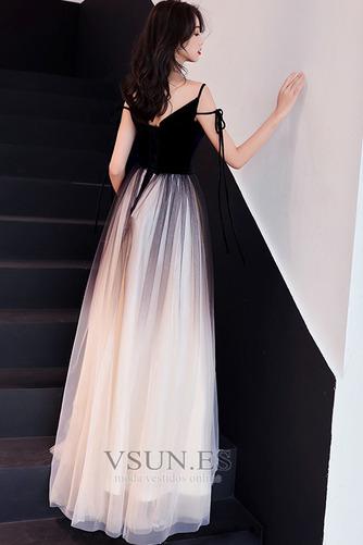 Vestido de fiesta Elegante Corte-A Natural Espalda Descubierta Escote en V - Página 3