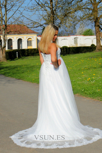Vestido de novia Sin tirantes Embarazadas Imperio Imperio Cintura Sin mangas - Página 5