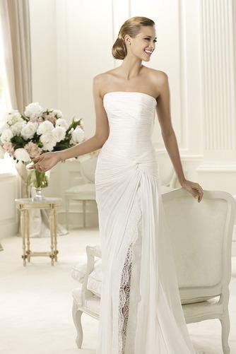 Vestido de novia Playa Apertura Frontal Espalda Descubierta Sencillo - Página 3