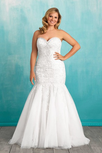Vestido de novia Corte Sirena Sala primavera Sin mangas Cola Capilla - Página 1